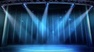 Blue Stage Lighting Blue Stage Lighting Background Stock Motion Graphics