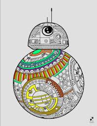 Star Wars Coloring Page Bb8 Coloring Page Printable Etsy