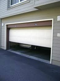 minimalist concept garage door opens on its own