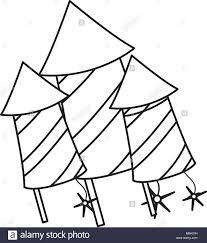 Rocket firework icon over white background vector illustration stock image
