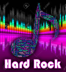 Hard Rock Music Indicating Sound Tracks And Psychedelic
