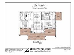 House million dollar malibu ocean views. Timber Frame House Plan The Lincoln