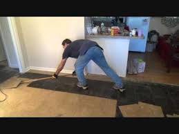 the easiest way to remove vinyl floor tiles