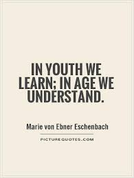 Quotes About Age Interesting Inyouthwelearninageweunderstand Age Quotes On PictureQuotes