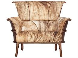 pacific green navajo brindle hair on hide with waxed chocolate leather accent chair nav001