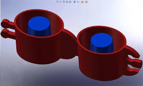 shot glass ice cube tray cup 3d print 113557