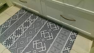 free kilim pattern decorative pvc vinyl mat linoleum rug color dark gray k
