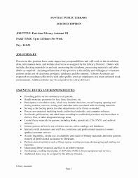 Job Description For Library Assistant New Library Assistant Resume