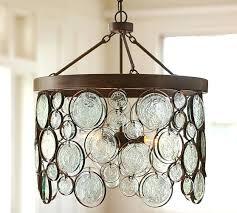 pottery barn chandelier emery indoor outdoor recycled glass chandelier pottery barn mica chandelier shade
