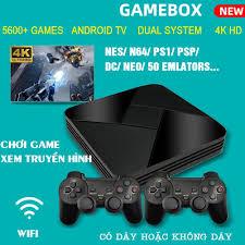 Máy chơi gamer điện tử game box xs-5600 trò chơi 3d, máy chơi game 4 nút,  máy chơi game trên tivi, máy chơi game điện tử, kết nối hdmi độ phân giải