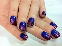 Brush up and Polish up!: CND Shellac Nail Art - Purple Purple ...