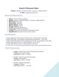 Resume Adf Developer Lezincdc Com
