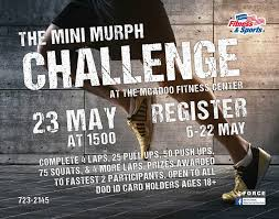 Murphy memorial scholarship foundation (501c3). The Mini Murph Challenge 5th Force Support Squadron