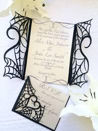 Halloween Wedding Invitations Gothic Halloween Wedding Party Invitation Set On Etsy Would Make