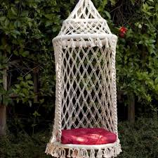 another macramé chair via macrame hanging chair instructions
