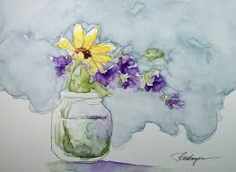 watercolor painting simple 1000 images about flowers in vase on watercolor