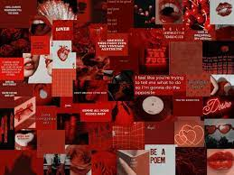 Cool Red Aesthetic Computer Wallpapers ...