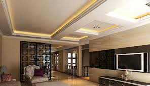 indirect lighting ceiling. living room design with suspended ceiling and indirect lighting