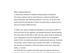 what is atypical behaviour a level psychology marked by document image preview