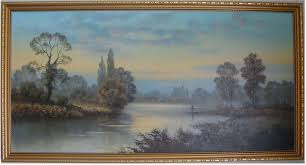 Wendy Reeves   Oil on canvas, River Scene, Art to buy online (Ref:WDR3906)