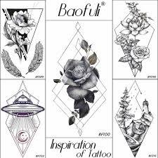 Baofuli треугольник ромб временная наклейка татуировки