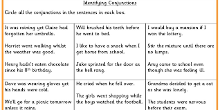Coordinating And Subordinating Conjunctions Worksheet ...