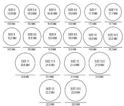 Free Size Chart Template Template For Ring Sizes Best Note Taking Template Free Org