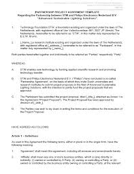A service agreement, also sometimes called a general services agreement, is a document about the template. 21 Free Partnership Agreement Templates Ms Office Documents