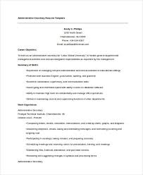 Secretary Resume Templates
