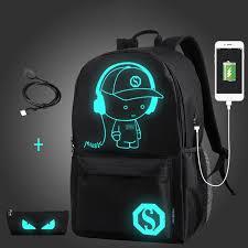 <b>Senkey Style</b> Student <b>School</b> Backpack Anime Luminous USB ...