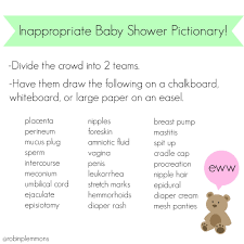 Inappropriate Baby Shower Pictionary! Because all those other baby ...