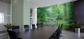 Wall murals for office Home Office Conference Room With River Landscape Mural Murals Your Way Corporate Office Wall Murals Wallpaper Murals Your Way