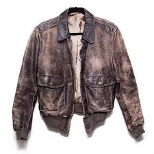 1940 s hercules leather flight er jacket brown sears g1 distressed vintage 1 of 4only 1 available