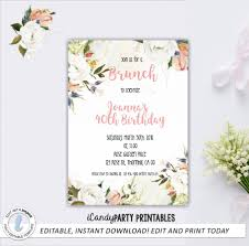Invitation Words For Birthday Party Brunch Birthday Party Invitation Wording Invites Envelopes