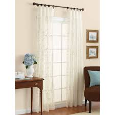 Curtains for picture window Bath Walmart Better Homes Gardens Embroidered Sheer Curtain Panel Walmartcom
