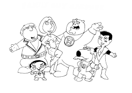 Small Picture Enjoyable Family Guy Coloring Pages Family Guy Coloring Pages