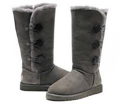 Ugg Bailey Button Triplet Tall Boots 1873 Grey UK
