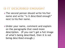 descriptive essay rough draft