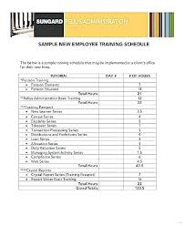 Employee Training Schedule Template Company Templates Erp