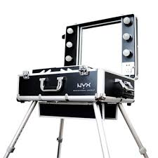 nyx cosmetics x large makeup artist train case with lights