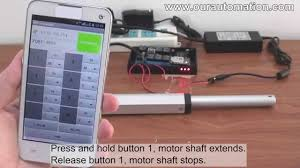 how to remote control linear actuator motor via mobile phone wifi how to remote control linear actuator motor via mobile phone wifi controller