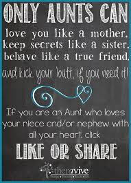 Aunt Quotes From Niece Simple Only Aunts Can Share If You Love Your Niece Or Nephew