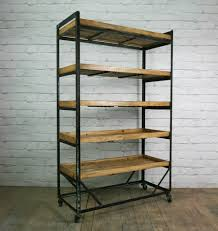 Industrial Bookcase Diy Ikea Hack Wood And Metal Bookshelf Metals And Woods