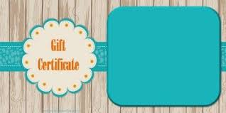 Customized Gift Certificates Free Printable Gift Certificate Templates That Can Be