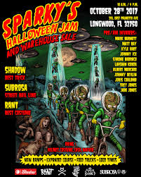 halloween sale flyer sparkys halloween jam and warehouse sale flyer