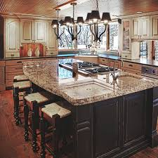 Image of: Flower Kitchen Island With Cooktop