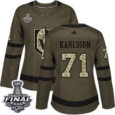 Knights 71 Final Authentic Stanley Hockey Golden 4170509 Service 2018 Salute Vegas Cup Sale Karlsson To Green William Jersey Women's