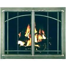 fireplace door replacement glass doors handle