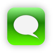 iphone message logo. image gallery iphone text message logo g