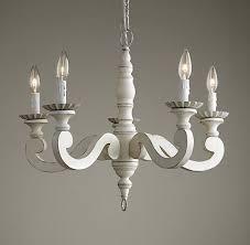 various white wood chandelier of etienne